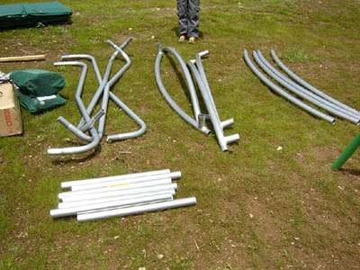 les tubes de trampoline structure
