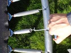 clef et ressort trampoline