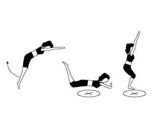 saut trampoline le saut ventral position debout